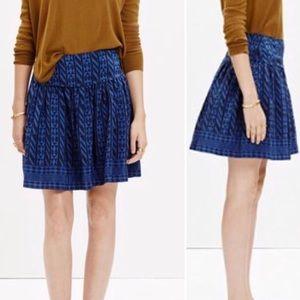 Madewell 100% silk geometric skirt